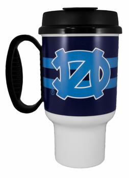 NORTH CAROLINA TAR HEELS MUG  HOT/COLD DRINKS 20 OZ INSULATE