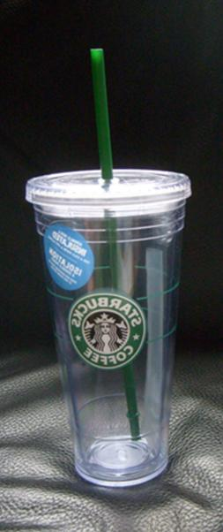 NWT Starbucks VINTAGE Logo COLD To Go CUP Original TUMBLER 2