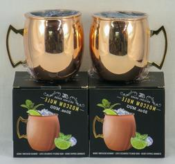 ORIGINAL BRAND MOSCOW MULE MUGS  COPPER & STAINLESS STEEL 20