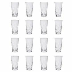 Palmetto 20-ounce Clear Plastic Tumblers | set of 16