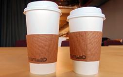 SafePro 20 oz Paper Hot WHITE Cups with Lids and Cup Sleeves