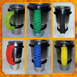 Paracord Handles for 40oz, 30oz, or 20 oz Yeti, Rtic, Sic, O