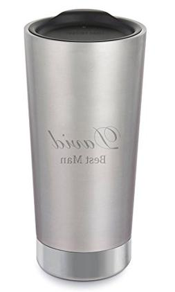Personalized Klean Kanteen Brushed Stainless Steel 20oz Insu
