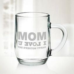 Personalized Glass Coffee Mug, 20oz
