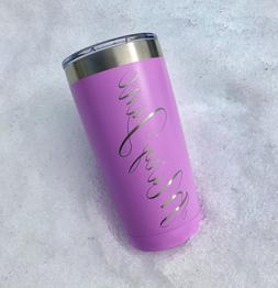 Personalized Name 20oz Tumbler | Laser Engraved | Select A C