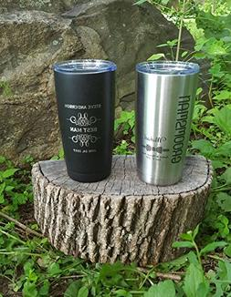 Set of 2 Personalized Polar or YETI Insulated Mugs, Groomsme