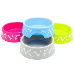 Pet Dog Cat Food Feeding Water Dish Bowl Plastic Plate Bowl