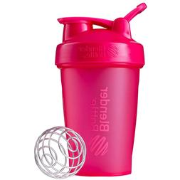 Pink Blender Bottle Classic loop top 20 oz Shaker Leak Proof