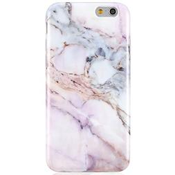 VIVIBIN iPhone 6 Case,iPhone 6s Case,Cute Pink Purple Marble