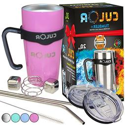CULOR Pink Tumbler 20oz | Stainless Steel 304 | Double Vacuu