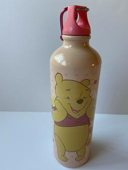 Disney Pink  Winnie Pooh 20 OZ. Aluminum Water Bottle w/ Key