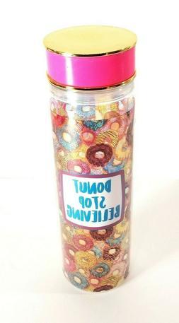 Plastic 20 oz Water Bottle Tumbler Pink & Gold Twist Lids 2