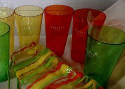 Starbucks Plastic Tumbler Gift Set Cabana Stripe Cooler Pack