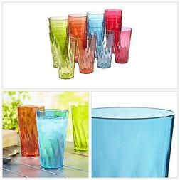 Plastic Tumblers 20 Ounce Set Of 16 Dishwasher Safe Drinkwar