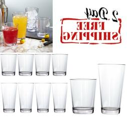 Plastic Tumblers Glass Set Clear Dishwasher Safe 15 And 20 O