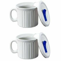 CorningWare Colours Pop-Ins 20-oz Soup Mug with Lid - 2 Pack