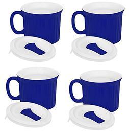 Corningware Pop-Ins 20-Ounce Mug with Blue Vented Plastic Co
