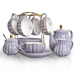 Porcelain Tea Sets British Royal Series, 8 OZ Cups& Saucer S