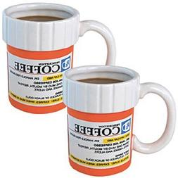 The Prescription Pill Medicine Coffee Cup Mug Set of 2