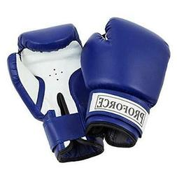 ProForce Leatherette Boxing Gloves, Blue & White 20 oz