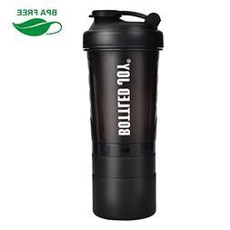 BOTTLED JOY Protein Shaker Bottle 20 oz ShakeMixerBottle