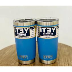 YETI Rambler 20 oz Pacific Blue Tumbler with MagSlider Lid