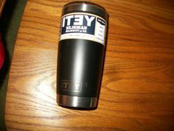 YETI RAMBLER 20 OZ TUMBLER - Mug Slider Lid Included BLACK