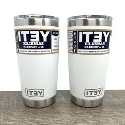 Yeti Rambler 20 oz White Tumbler With Magslide Lid Brand New