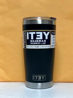 Yeti Rambler 20oz Tumbler Limited Edition BLACK Standard Lid