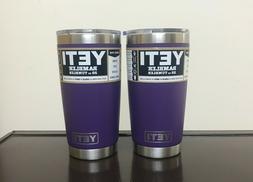 Yeti Rambler 20oz Tumbler Peak Purple - Set of 2 - New - Fre