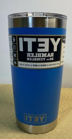 YETI Rambler~AUTHENTIC TAHOE BLUE!~ 20oz. With Lid. Free Shi