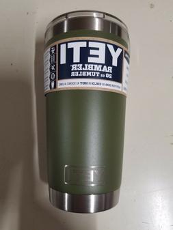 YETI Tumbler Rambler 20Oz Olive Green w Lid, 1 Each