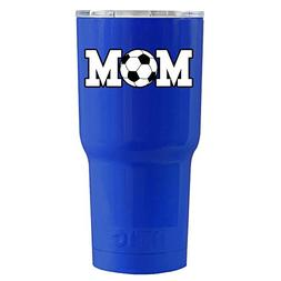 RTIC Soccer Mom on Blue 20 oz Stainless Steel Tumbler Cup
