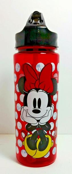 Disney's Minnie Mouse Dots and Letters Tritan Water Bottle,