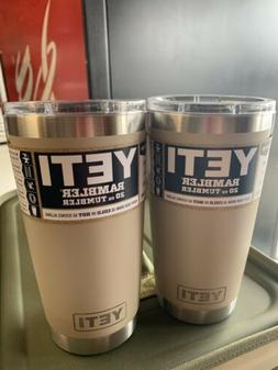 Yeti Sand Rambler 20oz Lot Set
