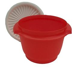 Tupperware 20oz Servalier Bowl, Red w/ White Seal