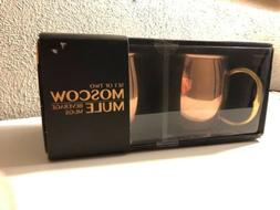 Set 2 Godinger Moscow Mule Copper Silver Lined Mugs 20 oz Br