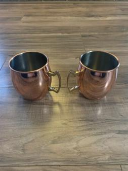 Set of 2 Copper MOSCOW MULE MUGS 20 oz each