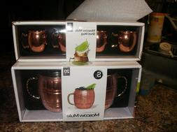 Set of 2 Moscow Mule Copper Mugs 20 oz and set of 4 _2oz Sho