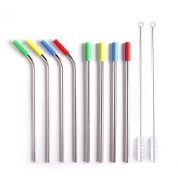 Set of 8 with Silicone Tips & Cleaning Brush 10.5 ins <font>