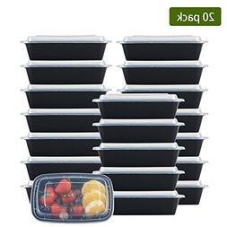 NutriBox  single one compartment 20 OZ Meal Prep Plastic Foo