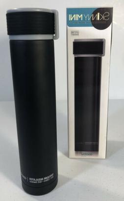Asobu Skinny Mini 8oz, Black Chic Double Walled Steel Water