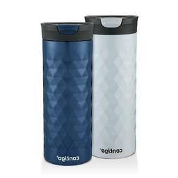 Contigo SnapSeal Kenton Travel Mugs, 20 oz, Polar White & Mo