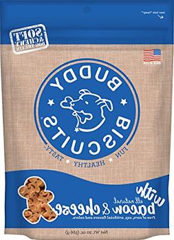 Buddy Biscuits Soft & Chewy Dog Treats With All Natural Baco