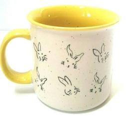 Meritage Speckled Bunny Rabbit 20 Oz. Yellow Ceramic Coffee