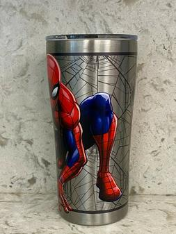 Tervis Spider Man  20 oz Stainless Steel With Hammer Lid NEW