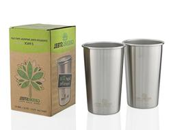 Greens Steel Stainless Steel Cups 20oz Pint Cup Tumbler  Pre