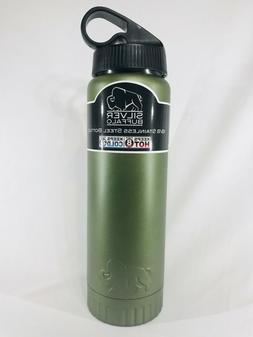 Stainless Steel 20oz Bottle Silver Buffalo Matte Olive Keeps