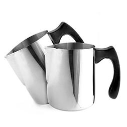 20-Ounce Stainless Steel Frothing Pitchers ; 4.5-Inch Tall M