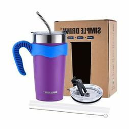 SIMPLE DRINK Stainless Steel Insulated Tumbler 20 oz   Sturd